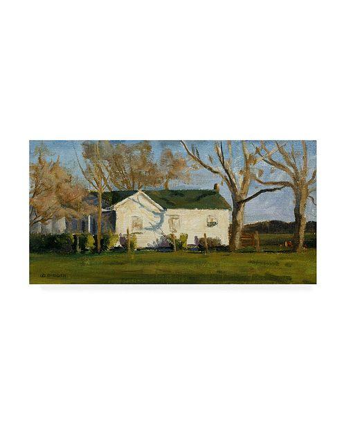 "Trademark Global Michael Budden Columbus Farm House Canvas Art - 37"" x 49"""
