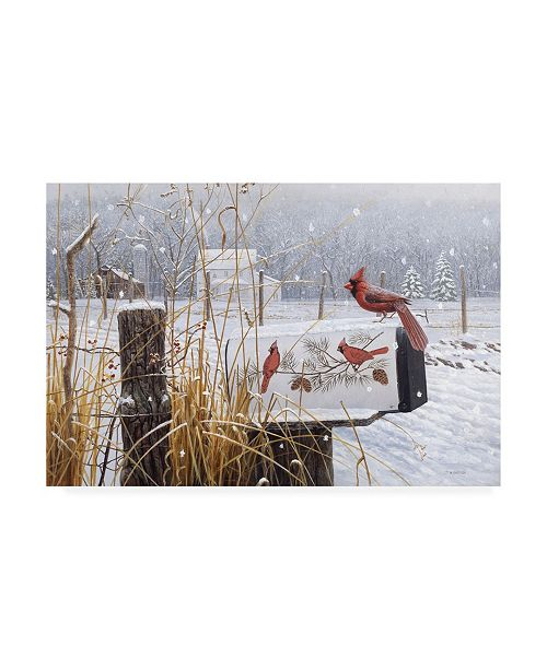 """Trademark Global Michael Budden Country Red Canvas Art - 20"""" x 25"""""""