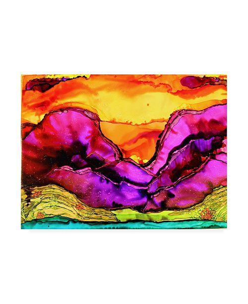 "Trademark Global Michelle Mccullough Purple Mountains Flow Canvas Art - 15"" x 20"""