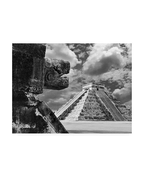 "Trademark Global Monte Nagler The Serpent and The Pyramid Chechinitza Mexico Canvas Art - 15"" x 20"""