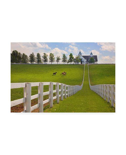 """Trademark Global Monte Nagler Manchester Farm Kentucky Color Canvas Art - 37"""" x 49"""""""