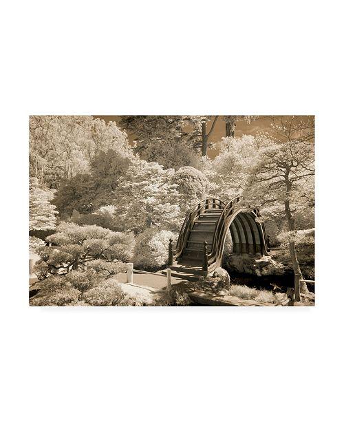 """Trademark Global Monte Nagler Bridge at Japanese Tea Garden San Francisco California Canvas Art - 15"""" x 20"""""""