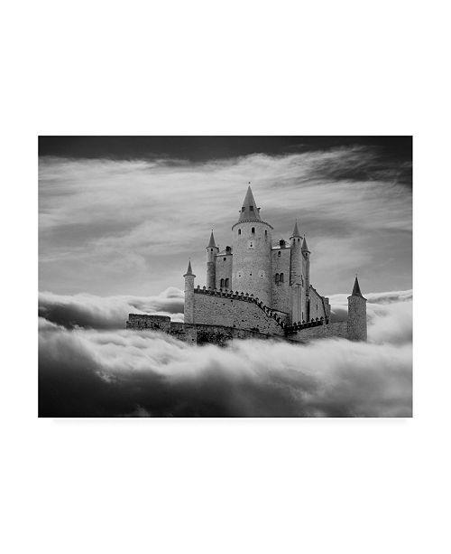 "Trademark Global Monte Nagler Castle in the Clouds Segovia Spain Canvas Art - 37"" x 49"""