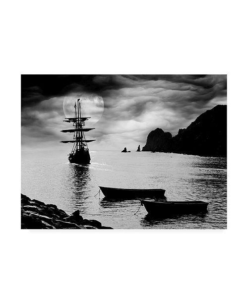 "Trademark Global Monte Nagler Moon Ship Los Cabos Mexico Canvas Art - 37"" x 49"""