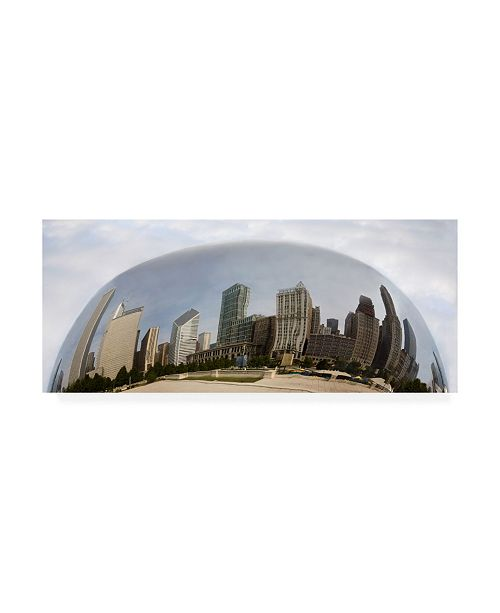 "Trademark Global Monte Nagler Chicago Reflections Chicago Illinois Color Pan Canvas Art - 15"" x 20"""