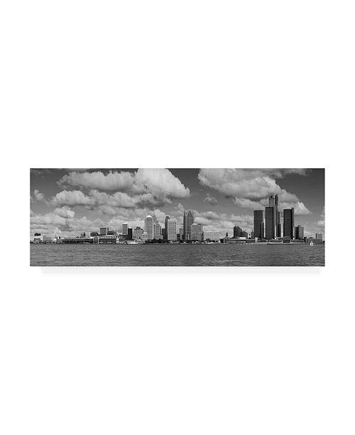 "Trademark Global Monte Nagler Detroit Skyline Panorama Canvas Art - 20"" x 25"""