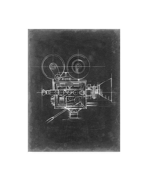 "Trademark Global Ethan Harper Camera Blueprints II Canvas Art - 20"" x 25"""