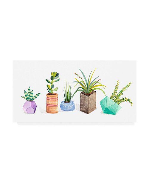 "Trademark Global Rebekah Ewer Succulent Display I Canvas Art - 20"" x 25"""