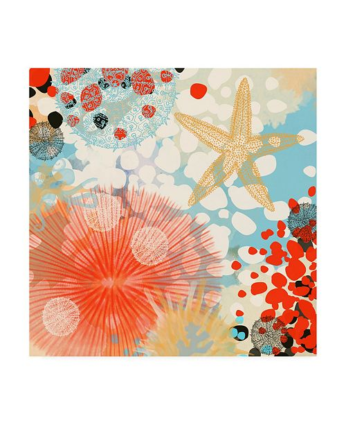 "Trademark Global Irena Orlov Exotic Sea Life II Canvas Art - 15.5"" x 21"""