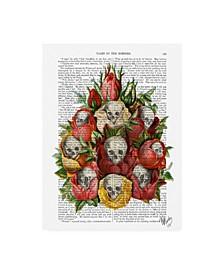 "Fab Funky Bouquet of Skulls Canvas Art - 15.5"" x 21"""