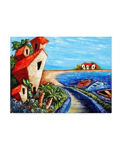"""Trademark Global Oscar Ortiz Ocean Village Canvas Art - 19.5"""" x 26"""""""