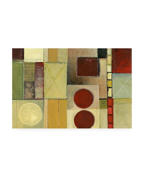 "Trademark Global Pablo Esteban Two Burgundy Corners on Right Canvas Art - 19.5"" x 26"""