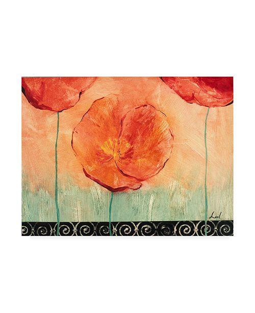 "Trademark Global Pablo Esteban Watercolor Red Flowers 2 Canvas Art - 36.5"" x 48"""