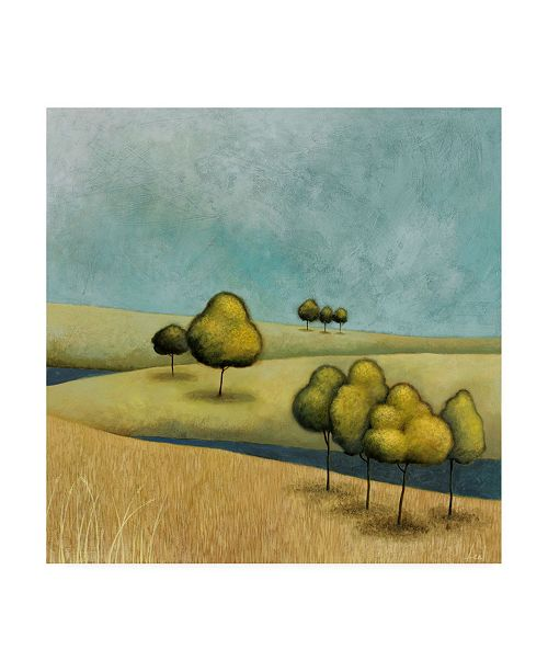 "Trademark Global Pablo Esteban Rounded Trees on Hills 1 Canvas Art - 36.5"" x 48"""