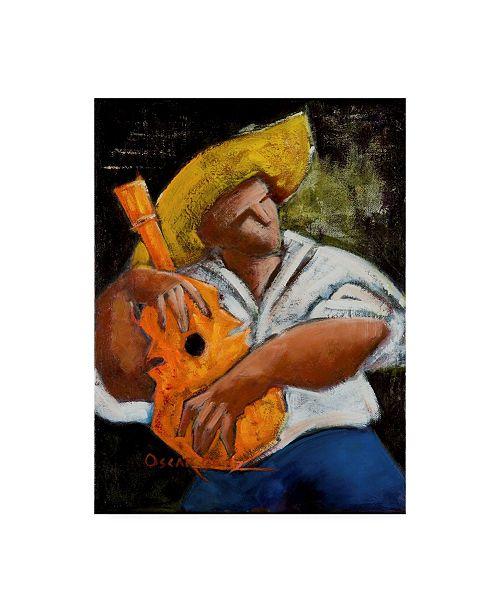 "Trademark Global Oscar Ortiz Bravado Alla Prima Canvas Art - 15.5"" x 21"""
