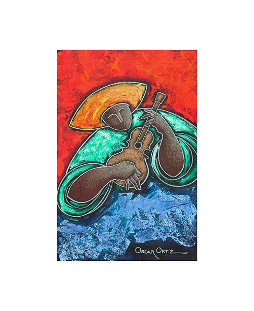 "Trademark Global Oscar Ortiz The Bold Musician Canvas Art - 27"" x 33.5"""