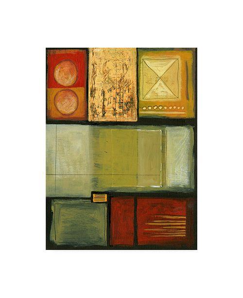 "Trademark Global Pablo Esteban X Marks the Spot Color Canvas Art - 15.5"" x 21"""
