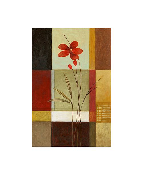 "Trademark Global Pablo Esteban Tall Red Canvas Art - 15.5"" x 21"""
