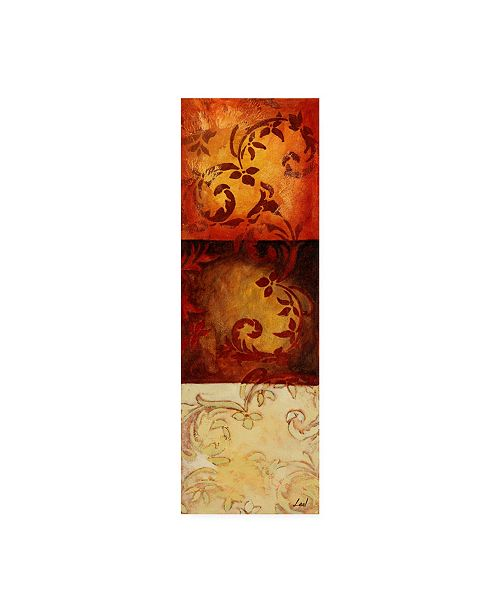 "Trademark Global Pablo Esteban Stencils Over Red Tones 3 Canvas Art - 15.5"" x 21"""