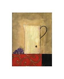 """Pablo Esteban White Jug Next to Fruit 2 Canvas Art - 19.5"""" x 26"""""""