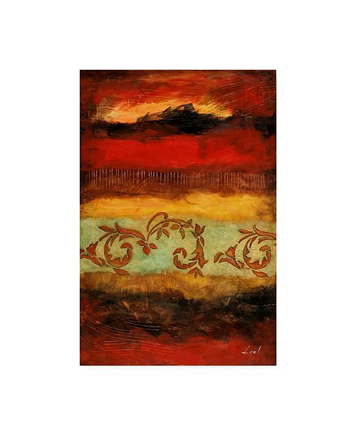 "Trademark Global Pablo Esteban Yellow Red Wave Pattern 4 Canvas Art - 15.5"" x 21"""