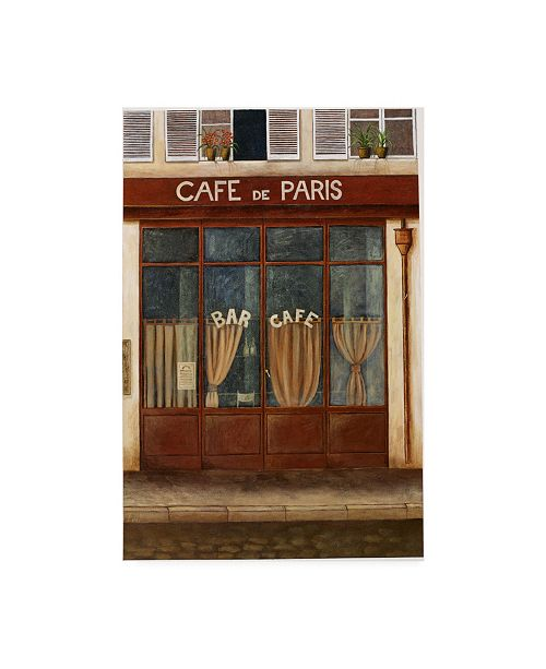 "Trademark Global Pablo Esteban Red Cafe Street 1 Canvas Art - 15.5"" x 21"""
