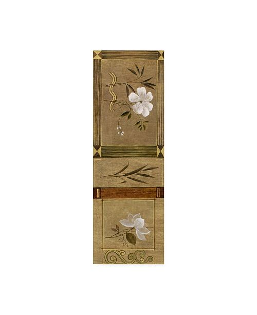 "Trademark Global Pablo Esteban White Floral Banner Canvas Art - 36.5"" x 48"""
