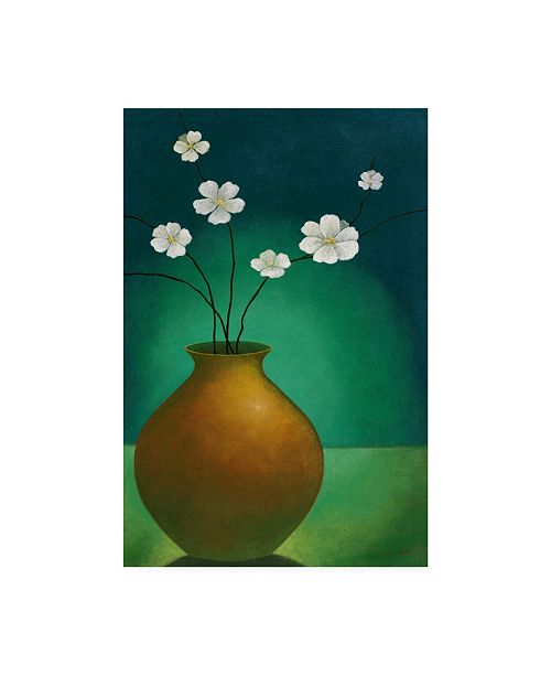 "Trademark Global Pablo Esteban Small Floral Vase 4 Canvas Art - 15.5"" x 21"""