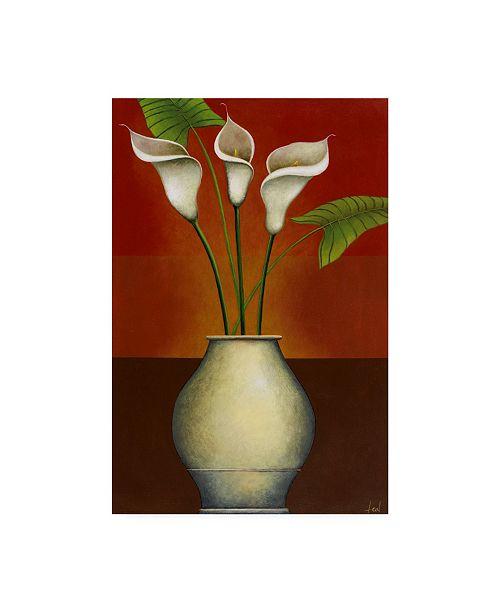 "Trademark Global Pablo Esteban Small Floral Vase 6 Canvas Art - 36.5"" x 48"""