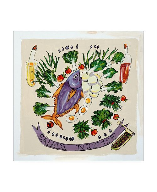 "Trademark Global Patricia A. Reed Salade Nicoise Canvas Art - 19.5"" x 26"""