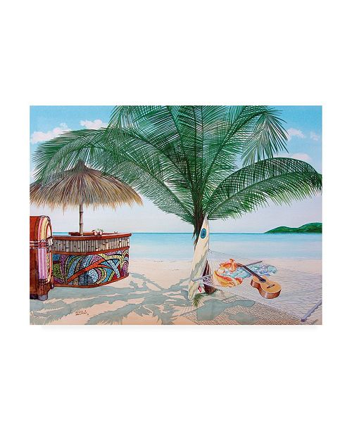 "Trademark Global Patrick Sullivan Tiki Bar Canvas Art - 15.5"" x 21"""