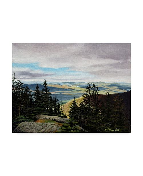 "Trademark Global Paul Walsh New Hampshire Green Canvas Art - 15.5"" x 21"""
