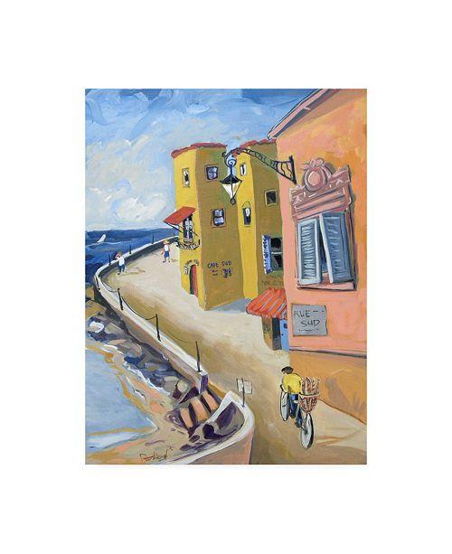 "Trademark Global Patricia A. Reed Yellow Orange Coast Canvas Art - 15.5"" x 21"""