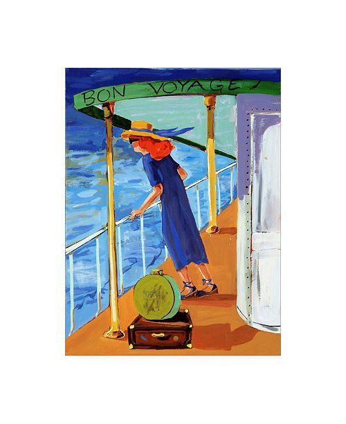 "Trademark Global Patricia A. Reed Bon Voyage Woman Canvas Art - 27"" x 33.5"""