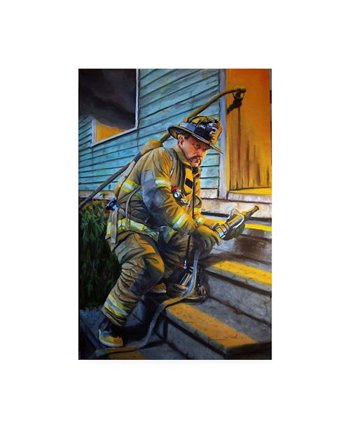 """Trademark Global Paul Walsh George Waiting For Water Canvas Art - 15.5"""" x 21"""""""