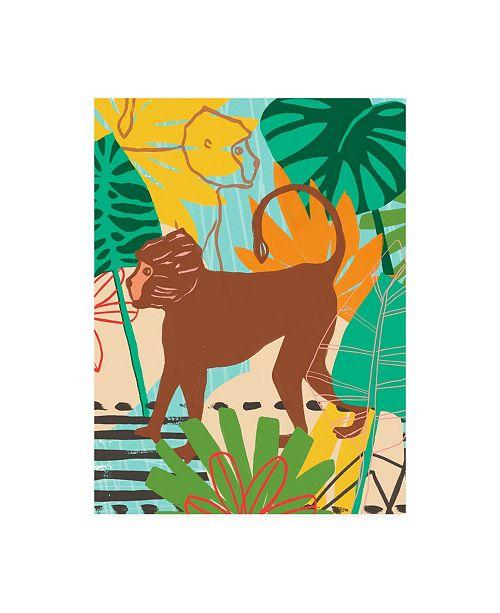 "Trademark Global June Erica Vess Graphic Jungle III Canvas Art - 36.5"" x 48"""