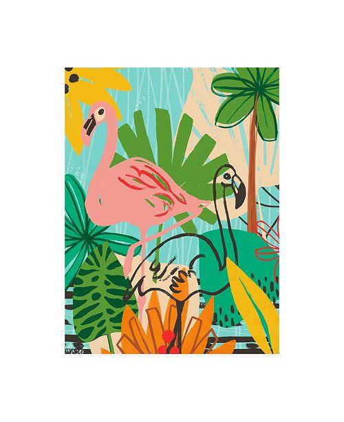 """Trademark Global June Erica Vess Graphic Jungle VI Canvas Art - 19.5"""" x 26"""""""