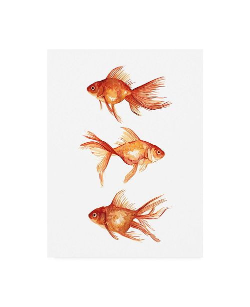 "Trademark Global Emma Scarvey Ornamental Goldfish III Canvas Art - 19.5"" x 26"""