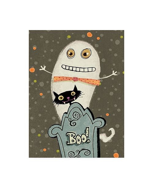 "Trademark Global Viv Eisner Happy Haunting I Canvas Art - 36.5"" x 48"""