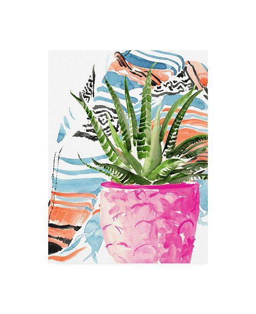 "Trademark Global Jennifer Paxton Parker Zebra Succulent I Canvas Art - 19.5"" x 26"""