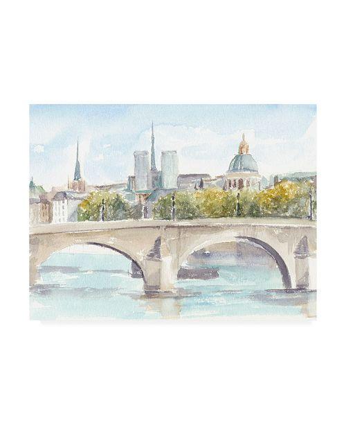 "Trademark Global Ethan Harper French Bridge Study I Canvas Art - 19.5"" x 26"""