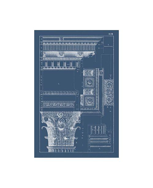 "Trademark Global Vision Studio Column and Cornice Blueprint III Canvas Art - 19.5"" x 26"""