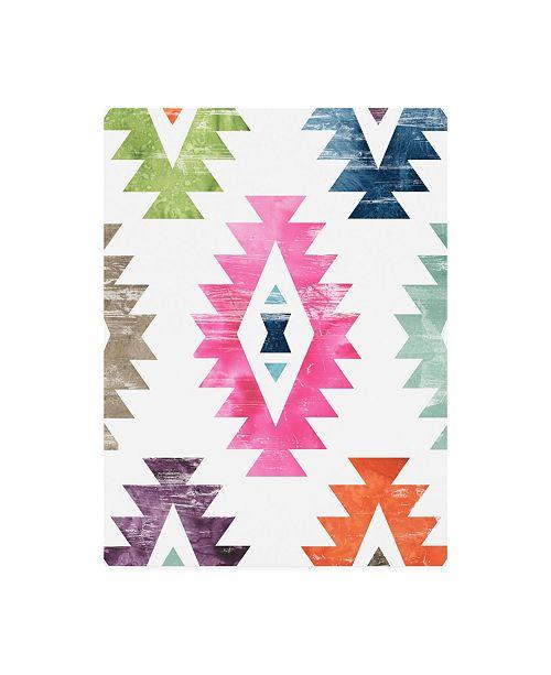 "Trademark Global June Erica Vess Aztec Brights I Canvas Art - 36.5"" x 48"""