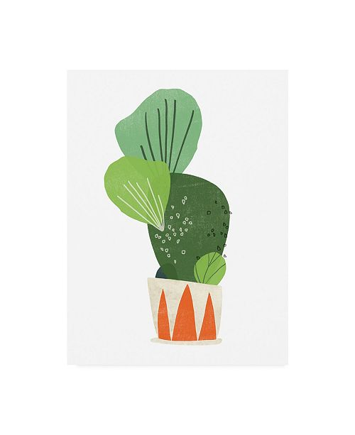 "Trademark Global June Erica Vess Happy Plants I Canvas Art - 36.5"" x 48"""