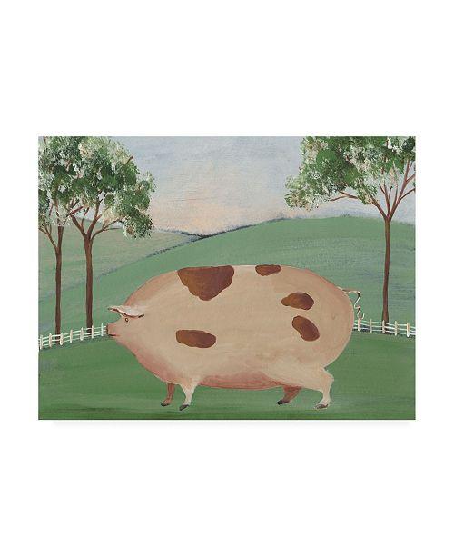 """Trademark Global Regina Moore Folk Farm III Canvas Art - 19.5"""" x 26"""""""