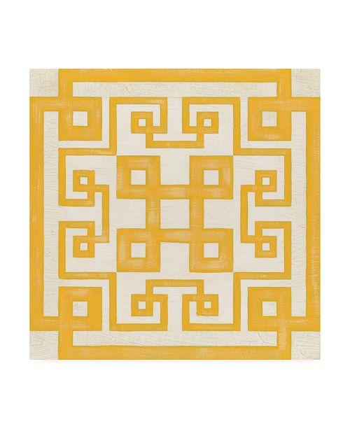 "Trademark Global June Erica Vess Maze Motif II Canvas Art - 15.5"" x 21"""