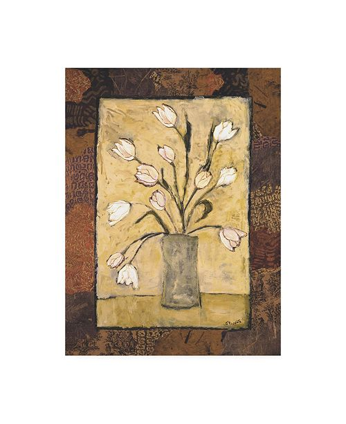 "Trademark Global Judi Bagnato Blooms in Border I Canvas Art - 36.5"" x 48"""