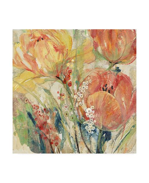 "Trademark Global Tim OToole Spring Tulip Array I Canvas Art - 15.5"" x 21"""