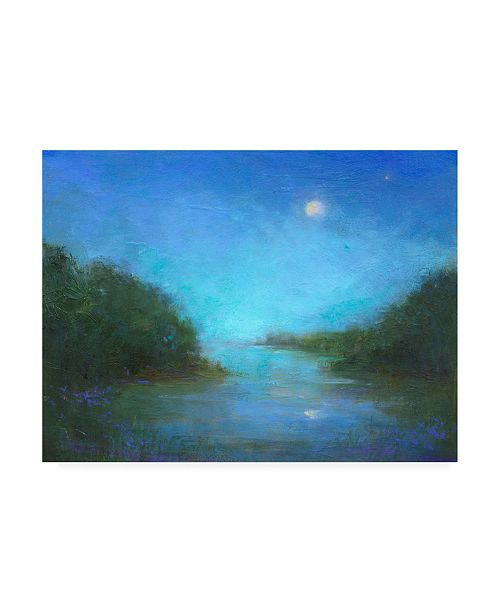 "Trademark Global Sheila Finch Twilight River Canvas Art - 19.5"" x 26"""