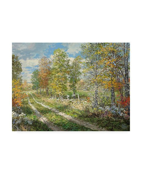 "Trademark Global Peter Snyder Autumnal Blind Line Canvas Art - 36.5"" x 48"""